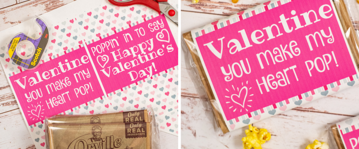 DIY Popcorn Valentines Free Printable