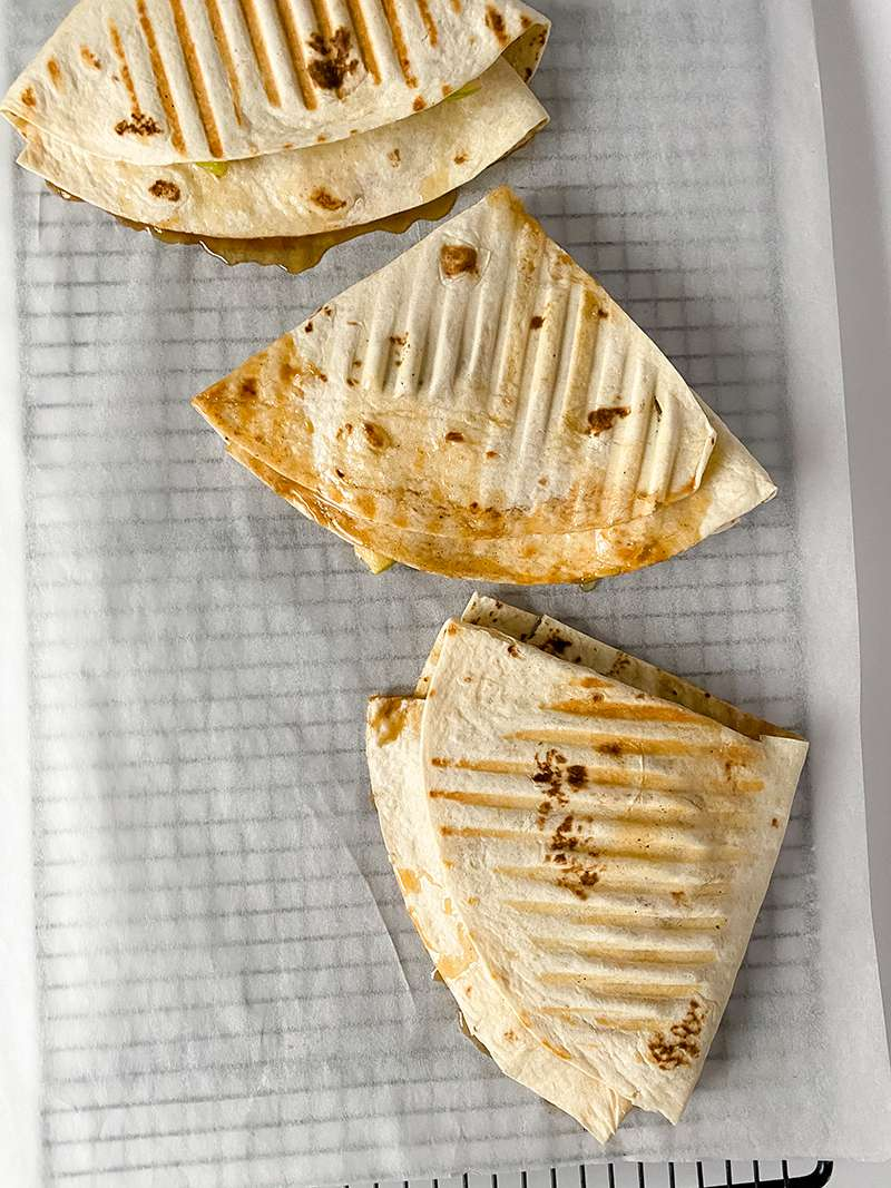 The caramel apple tortilla wraps ready to eat!