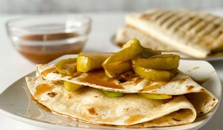 Homemade Caramel Apple Tortilla Recipe