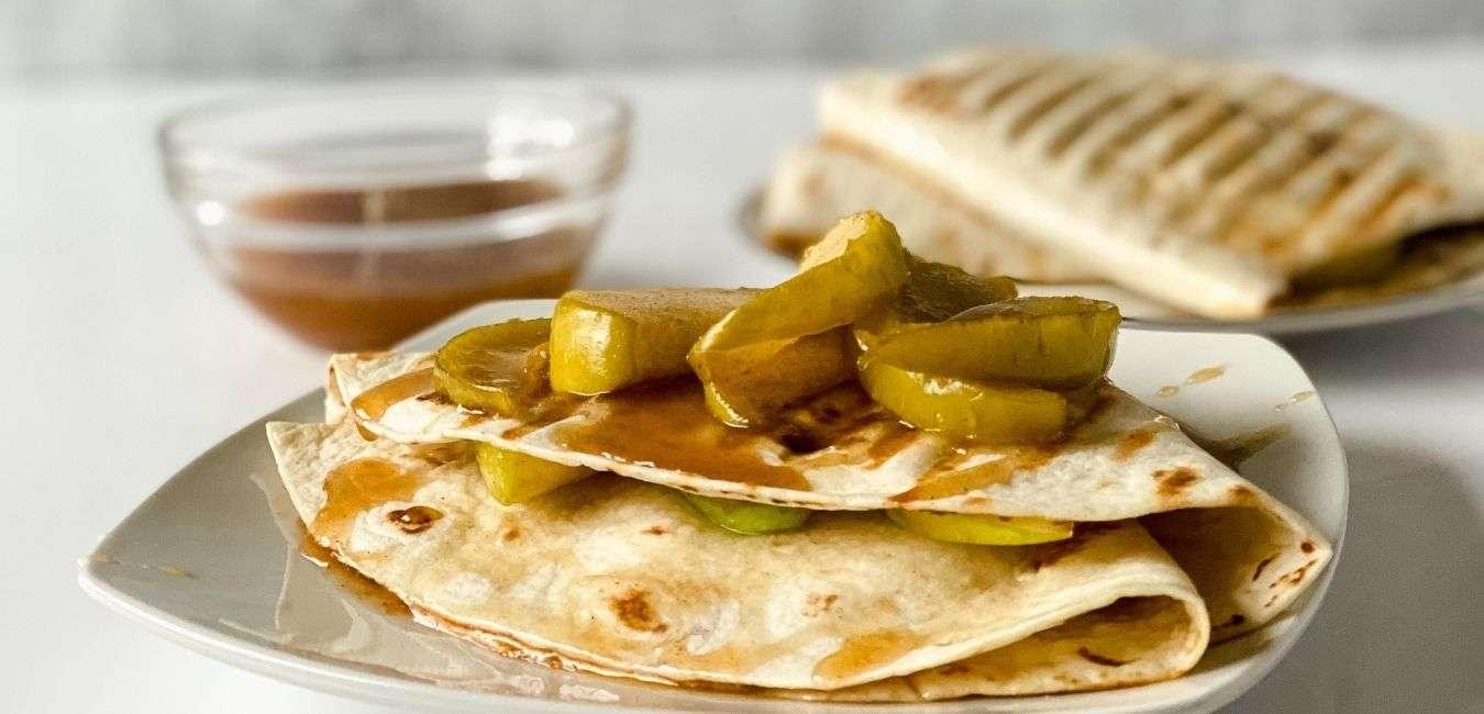 Caramel Apple Tortilla Wrap Recipe Feature Image