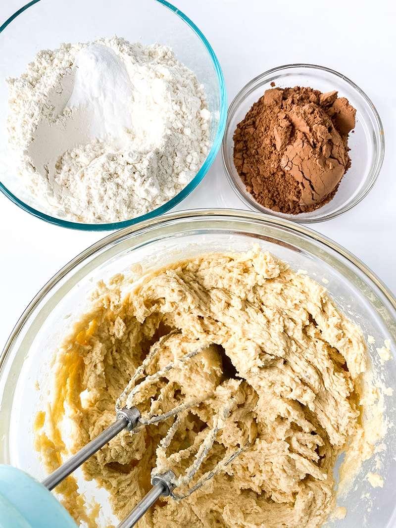 dry ingredients for German chocolate cookie recipe