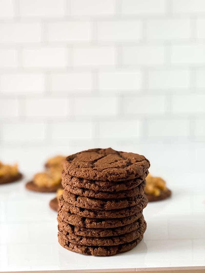 Baked German chocolate cookies