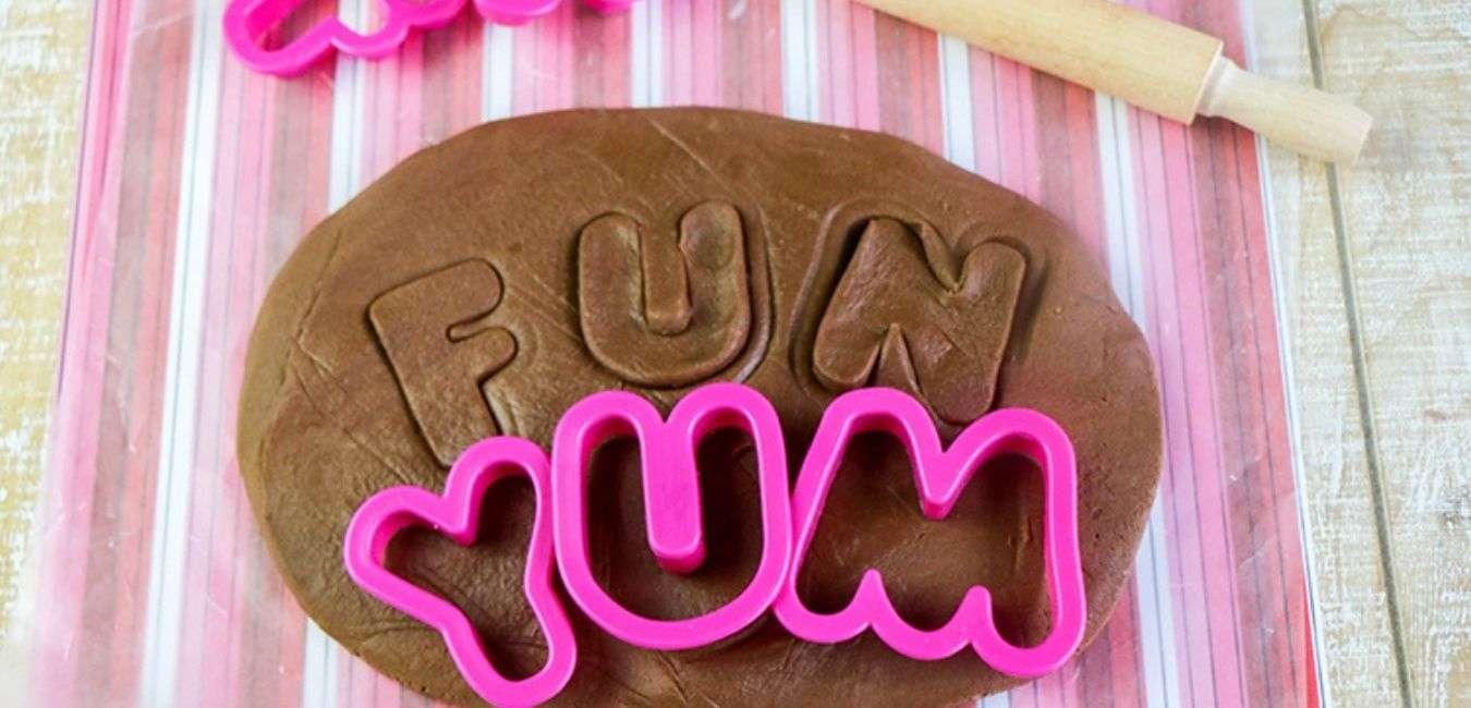 Edible chocolate play dough for kids