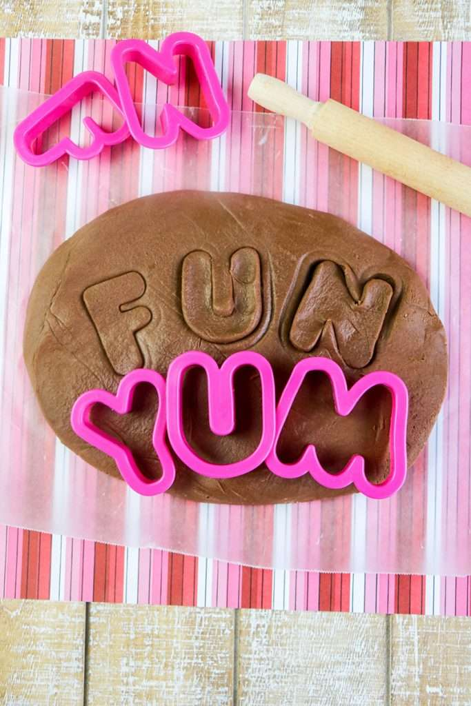 Edible chocolate play dough for kids