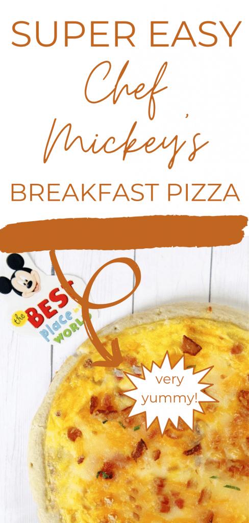 breakfast pizza on white background